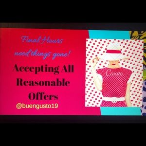 Take advantage of the offers of @buengusto19 page